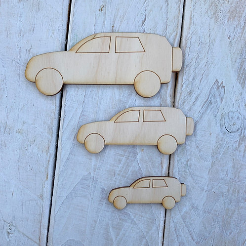 Plywood Jeep Car 10 Pack