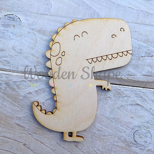 Plywood Dinosaur Hug Shape 10 Pack