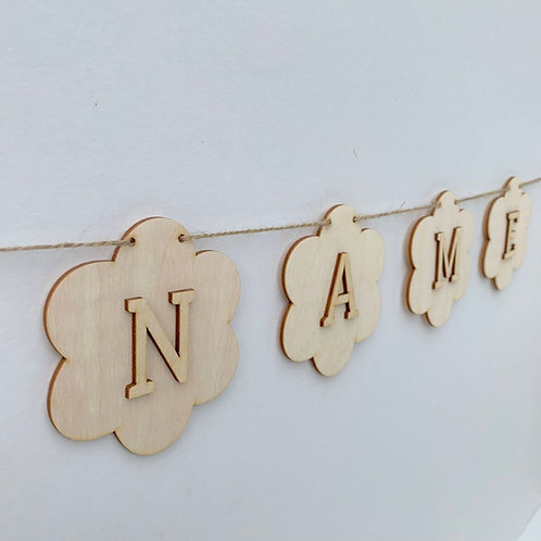 Flower Bunting with Letters