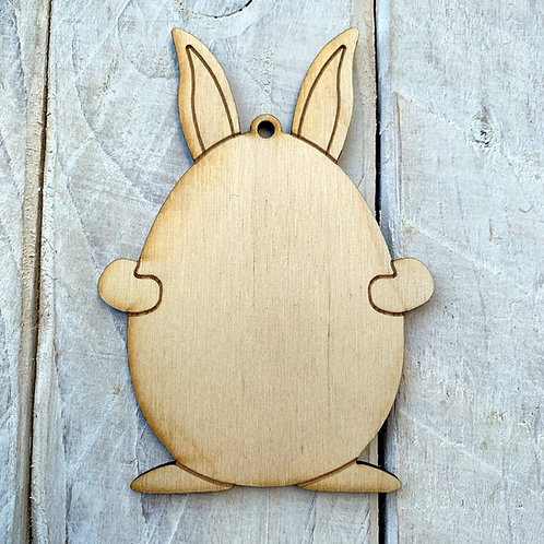 Plywood Easter Egg with Ears 10 Pack