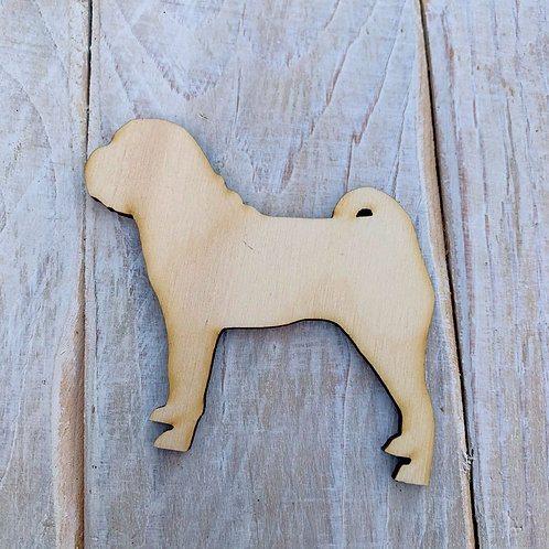 Plywood Shar Pei Dog Shape 10 PACK