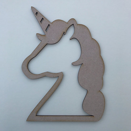 MDF Unicorn Head 2 Designs to Choose from