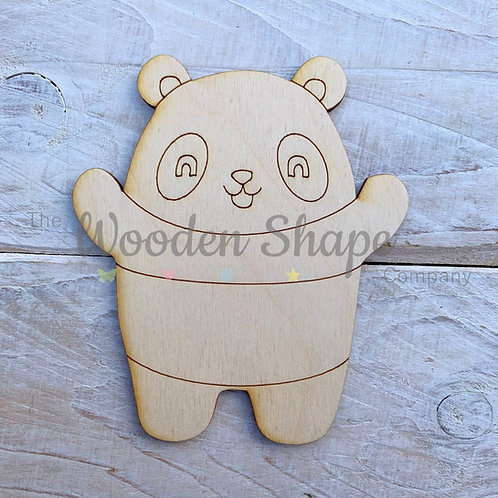 Plywood Panda Hug Shape 10 Pack