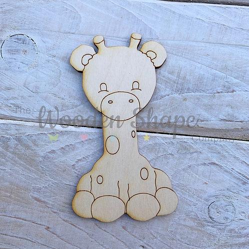 Plywood Giraffe Hug Shape 10 Pack