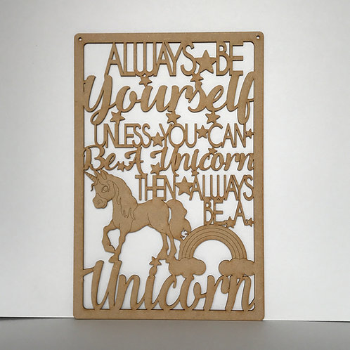 MDF Unicorn Theme Quote 6 To Choose From