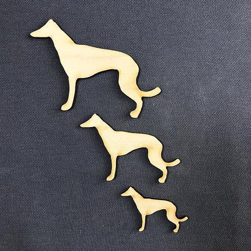 Plywood Greyhound Dog Shape 10 PACK
