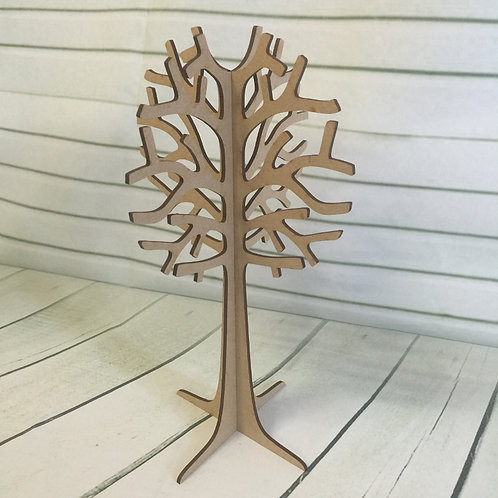 MDF Wooden Jewelery Tree 29cm Tall Freestanding