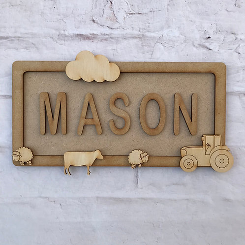 Farm Theme Room Sign Small (up to 6 letters)