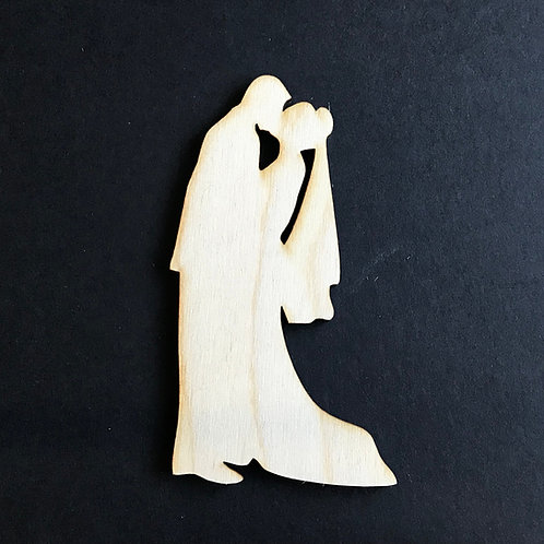 Plywood BRIDE & GROOM KISS VEIL Shape 10 PACK