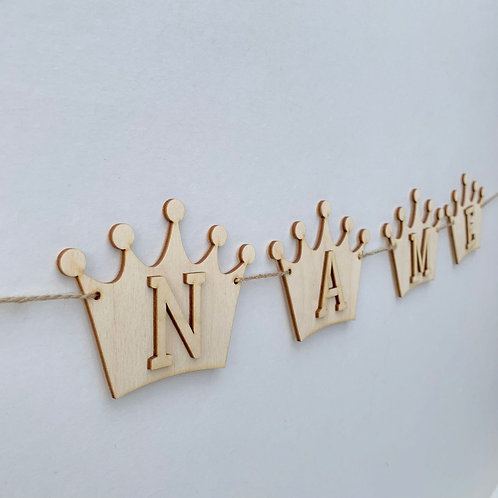 Crown Bunting with Letters