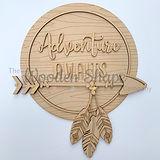 mdf wooden laser cut tribal boho adventu