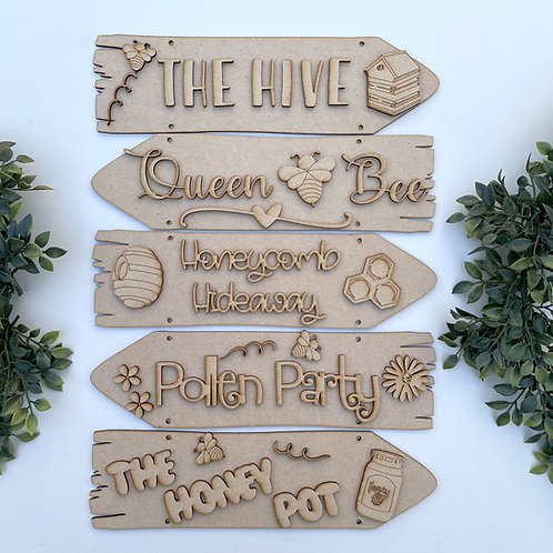 The Hive Theme Direction Sign