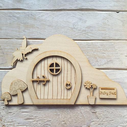 3D Wooden Fairy Door Scene Accessories Code Scene
