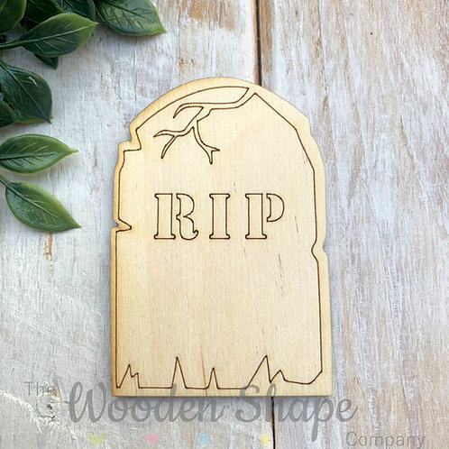 Plywood RIP Tombstone Shapes 10 Pack
