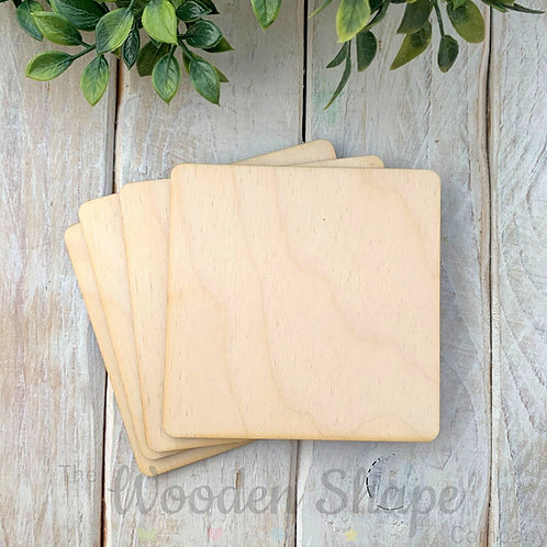 4 Pack Birch Plywood Squares