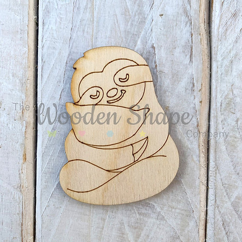 Plywood Sloth with Pillow Shape 10 Pack