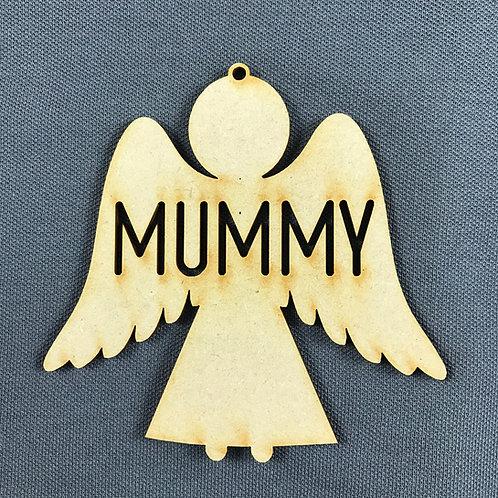MDF Bauble Angel Mummy