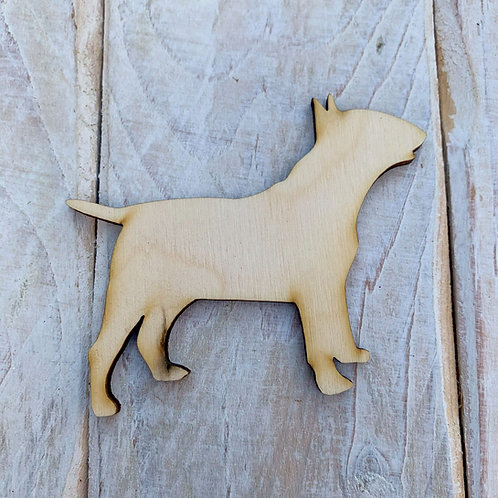 Plywood  Bull Terrier Dog Shape 10 PACK