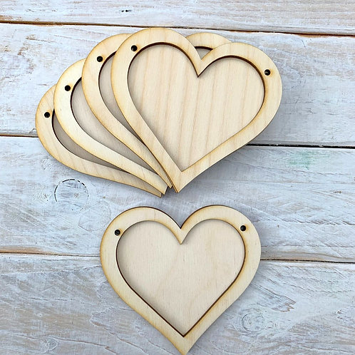 10 Pack Bunting Frame Heart