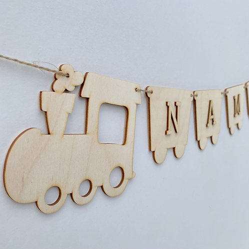 Train Bunting with Letters