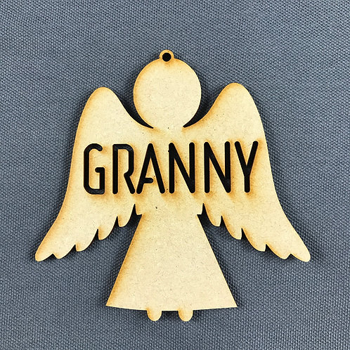 MDF Bauble Angel Granny