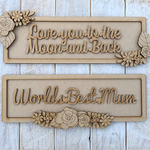 Layered Plaque Frame Mothers Day Theme