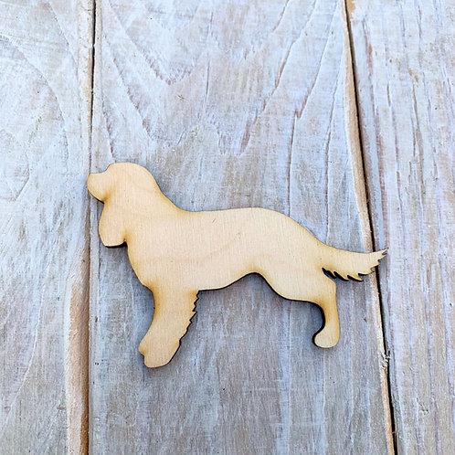 Plywood Long Tail Springer Spaniel Dog Shape 10 PACK