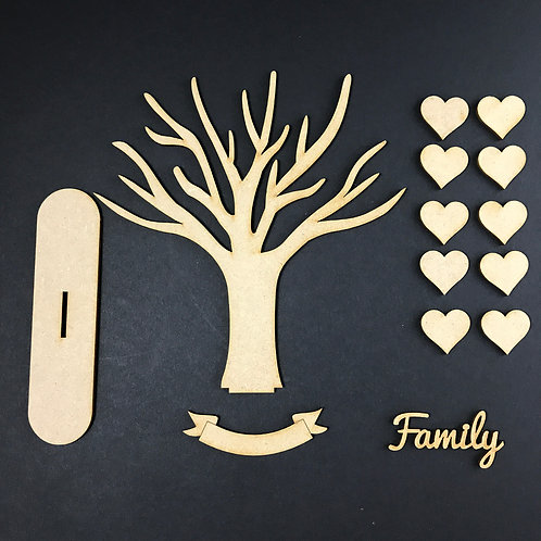 MDF Wooden Tree Code Branch Stand Kit