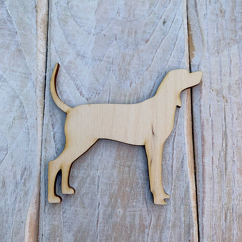 Plywood Coon Hound Dog Shape 10 PACK
