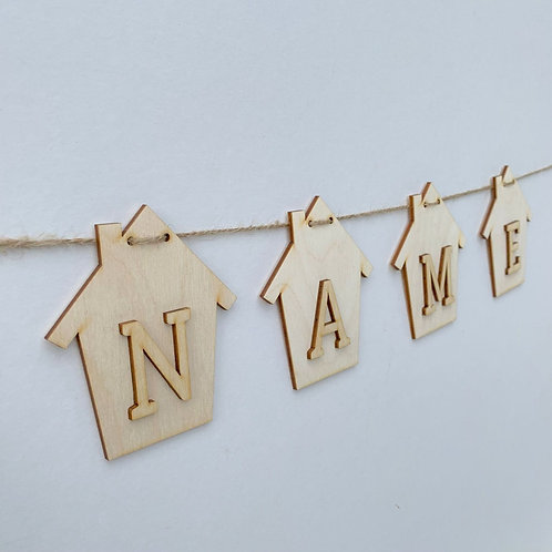 House Bunting with Letters