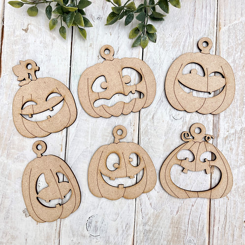 Clearance Halloween Pumpkins 6 Pack Shapes