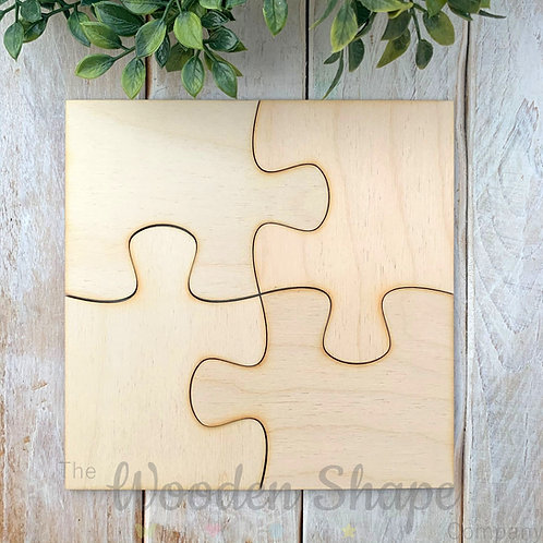 4 Pack Birch Plywood Jigsaw