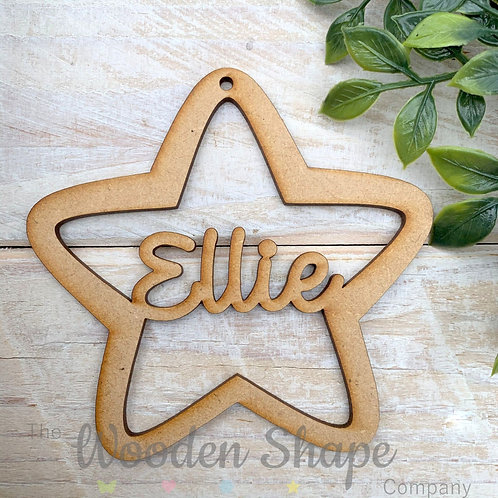 MDF Personalised Bauble Star