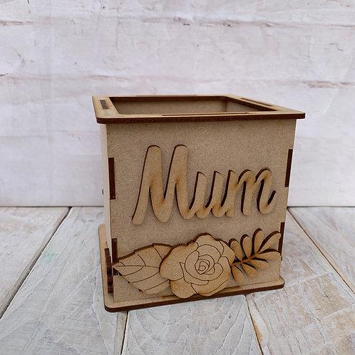 MDF Storage Pot Mum