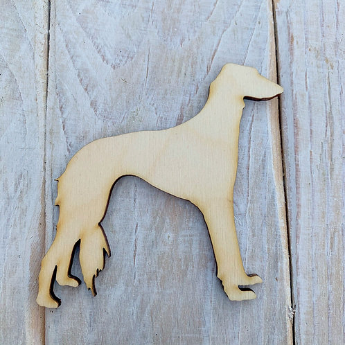 Plywood Saluki Dog Shape 10 PACK