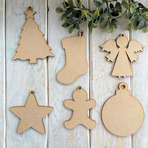 Clearance Christmas Assorted 6 Pack Shapes