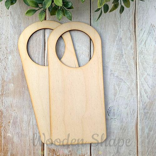 2 Pack Birch Plywood Door Hanger Hole
