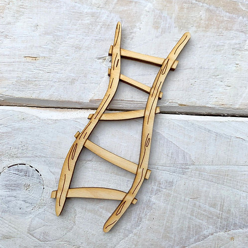 6 Pack Wooden Fairy Ladder Wobbly