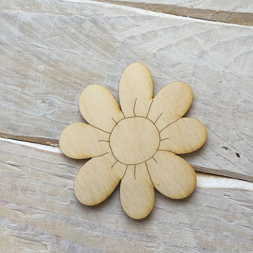 Plywood DASIY FLOWER Shape 10 PACK