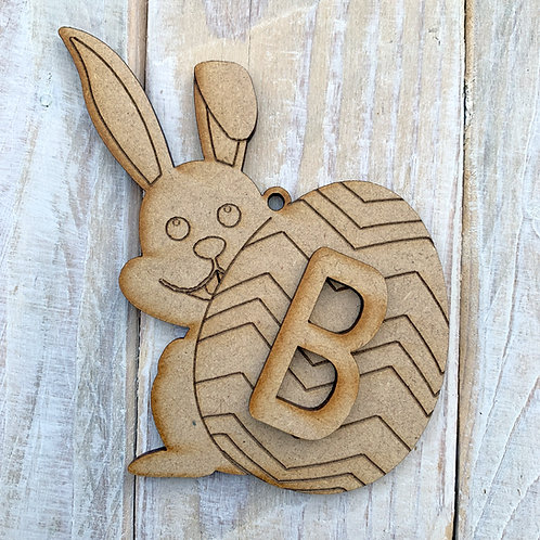 Easter Tree Decoration Bunny with Initial