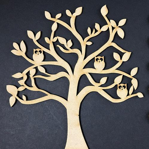 MDF Wooden Tree Code Owl