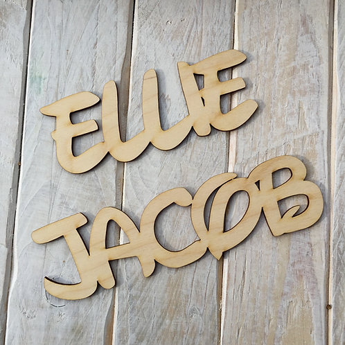 Wooden Personalised Name Sign Disney Style Word