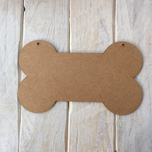 MDF Dog Bone Shape Plaque Blank