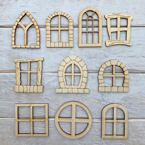 Fairy Door Window Assorted Pack Large 10 Pieces
