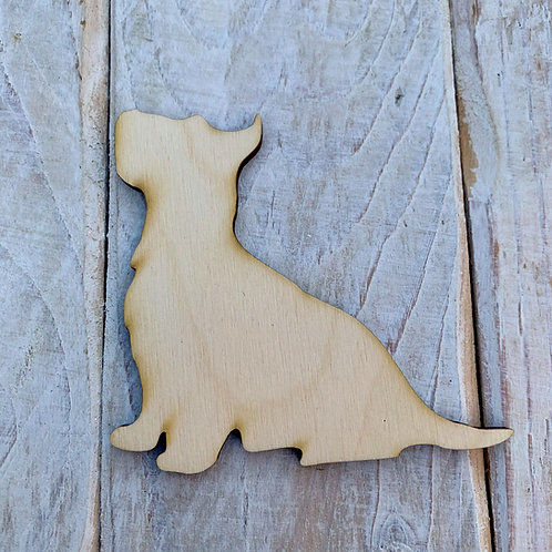 Plywood Westie Sitting Dog Shape 10 PACK