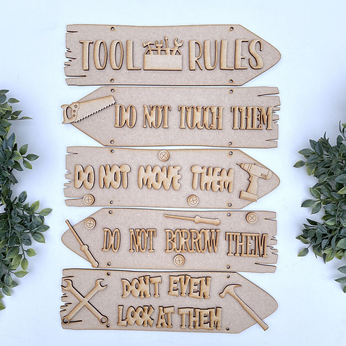 Tool Rules Theme Direction Sign