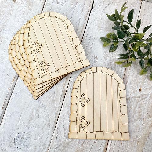 6 Pack Plywood Fairy Doors Code Flat SH