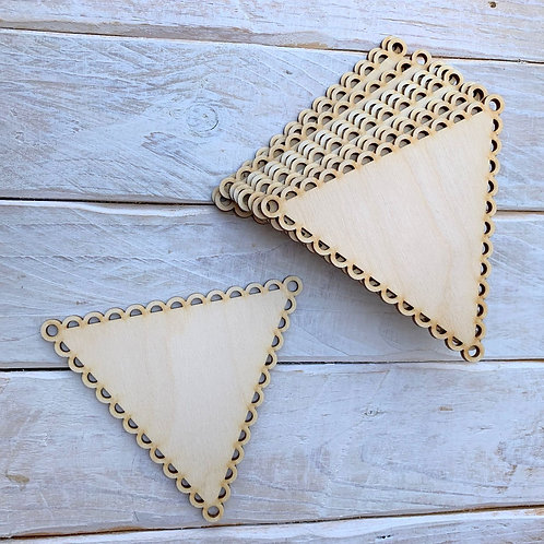 10 Pack Bunting Scalloped