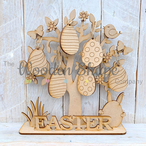 MDF Easter Tree Craft Kit with Hanging Eggs