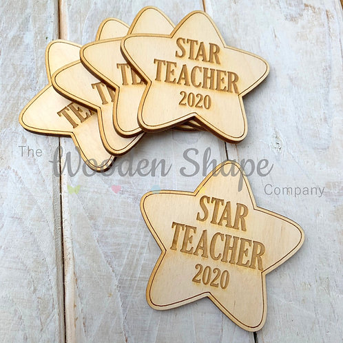 5 Pack Engraved Card Sentiment Star Star Teacher 2020